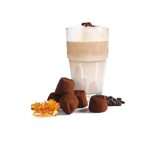 Chocolat Mathez - Truffes fantaisie chocolat caramel machiatto