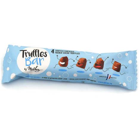 Chocolat Mathez - Truffes Bar : Etui de truffes fantaisie natures