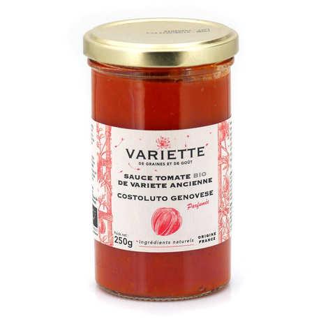 Variette - Sauce tomate bio de variété ancienne Costoluto Genovese rouge