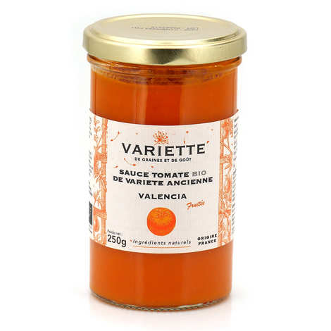Variette - Sauce tomate bio de variété ancienne Valencia orange