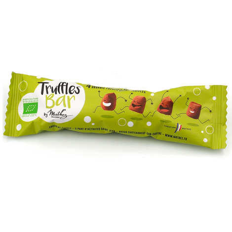 Chocolat Mathez - Truffes Bar Bio - Etui de truffes fantaisie chocolat bio