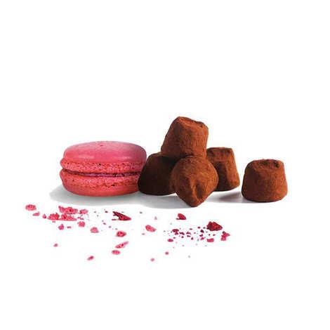 Chocolat Mathez - Raspberry Macaroon Chocolate Fantaisie Truffles in Travel Tin Box