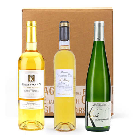 - Box 3 wines to accompany your foie gras