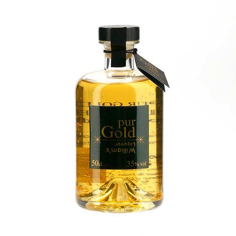 Distillerie Paul Devoille - Liqueur de poire pur gold William's 35% aux paillettes d'or