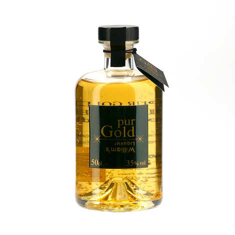 Distillerie Paul Devoille - Pure gold williams liquor with real gold flakes