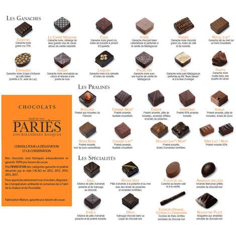 Maison Pariès - Coffret Elégance - chocolats Pariès
