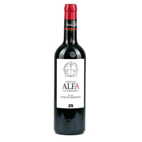 Château Alfa la Bernade - Alfa la Bernade Castle - Blaye Côtes de Bordeaux AOP - Red wine