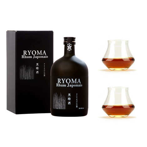 Distillerie Kikusui - Japanese Rhum Ryoma 7 year old 40% and 2 glasses