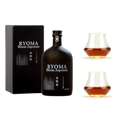 Distillerie Kikusui - Rhum japonais Ryoma 7 ans d'âge 40% et ses 2 verres