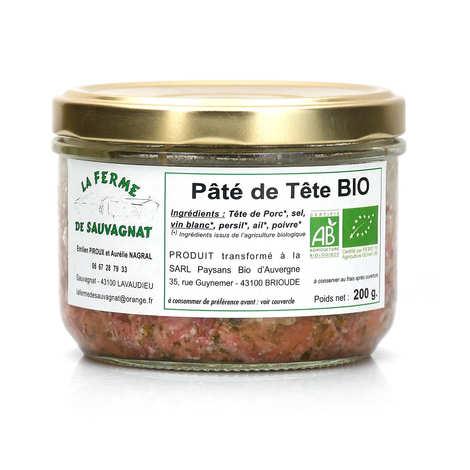 La ferme de Sauvagnat - Pâté de tête de porc bio d'Auvergne - sans nitrites