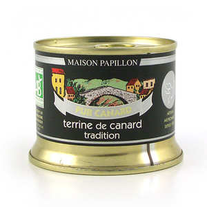 Maison Papillon - Terrine 100% canard tradition bio