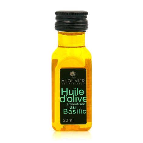 A L'Olivier - Mignonnette d'huile d'olive vierge extra au basilic