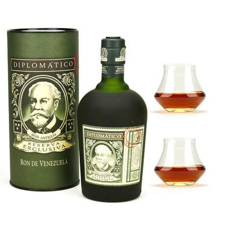 Destilerias Unidas - Diplomatico Reserva Exclusiva - Rum of Venezuela - 40% and 2 glasses