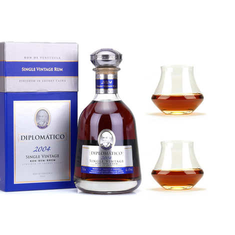 Destilerias Unidas - Diplomatico Single Vintage - Rhum du Venezuela - 43% et ses 2 verres