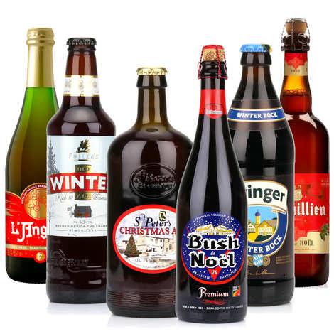 - Lot de 6 bières de Noël (min 50cl)