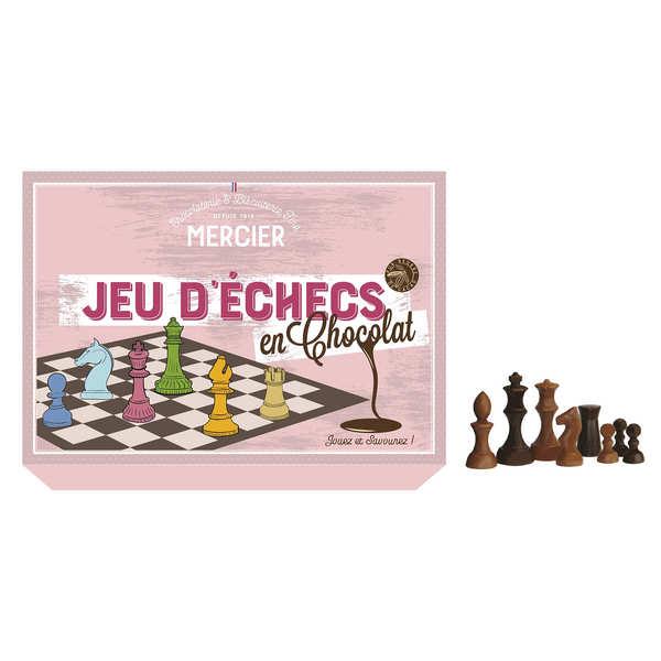 Jeu d'échecs en chocolat