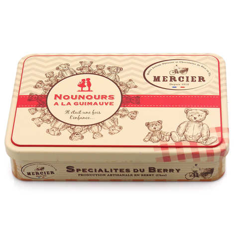 Maison Mercier - Canister with 10 marshmallow teddies