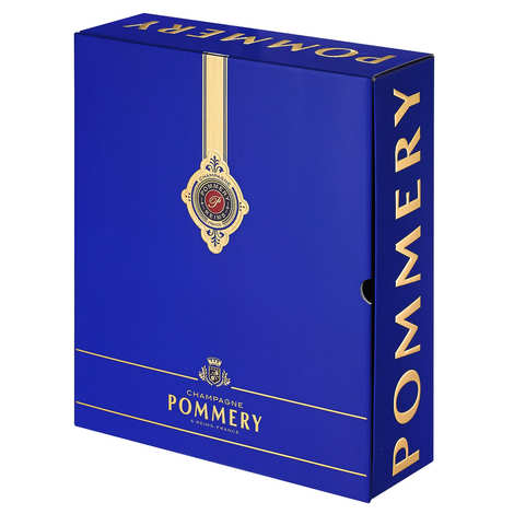 Pommery - Royal Pommery Brut Champagne Box and 2 flutes