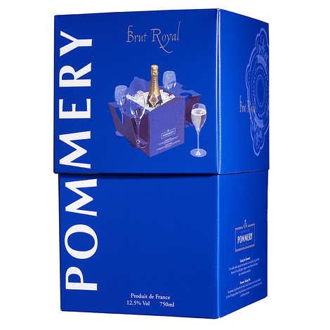 Pommery - Coffret Tasting Box - Champagne Brut Royal Pommery et 4 flûtes