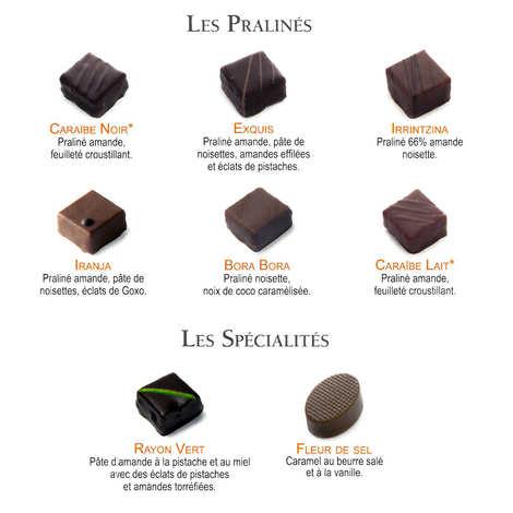 Maison Pariès - Coffret boîte métal - chocolats Pariès
