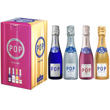 Champagne Pop Pommery 4 quarts assortis