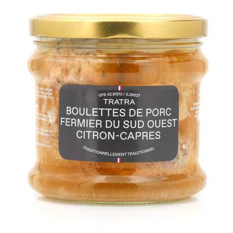 Tratra - Boulettes de porc fermier du Sud-Ouest citron câpres
