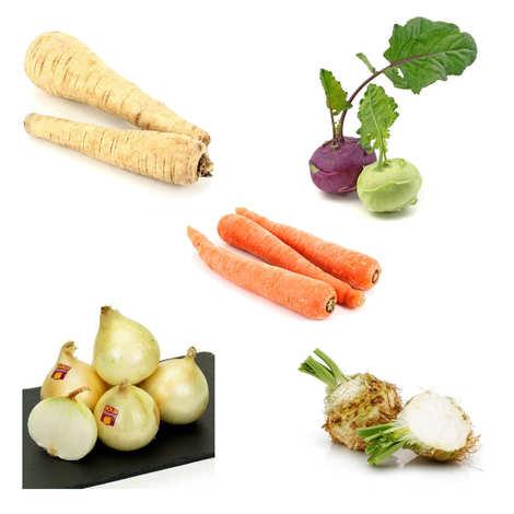 - Lot de légumes pour pot-au-feu