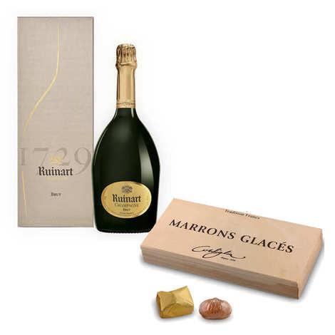 - Marrons glacés Corsiglia et champagne R de Ruinart