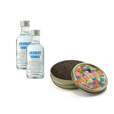 - Lot dégustation de caviar français & vodka