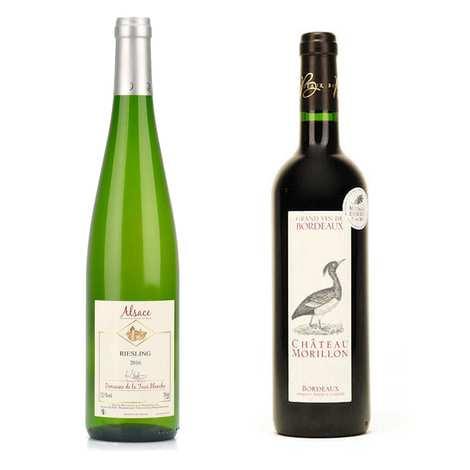 - Le Rouge et le Blanc - Lot de 2 vins