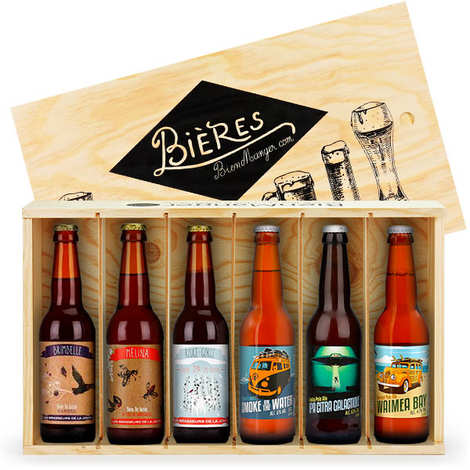 BienManger paniers garnis - 6 Authentic French Carft Beers Gift Box
