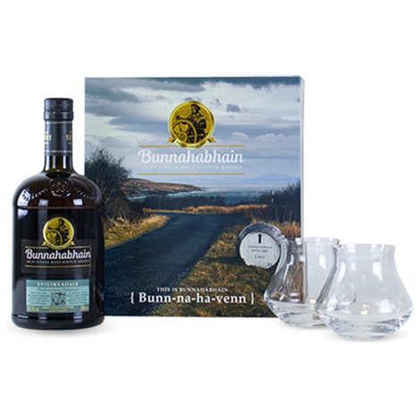 Bunnahabhain Distillery - Coffret whisky Bunnahabhain Stiùireadair - 2 verres