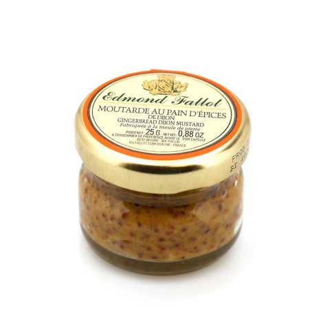 Fallot - Dijon Mustard with Honey & Gingerbread in a small jar