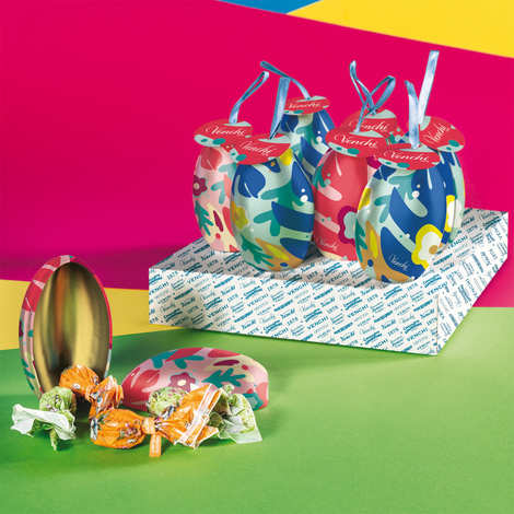 Venchi - Decorated metal egg filled with small filled chocolate Easter eggs