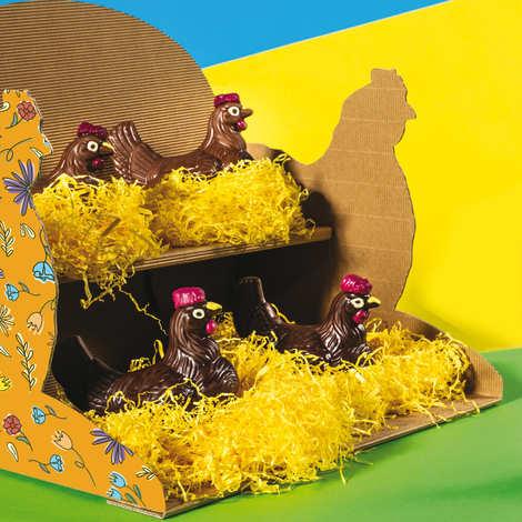 Venchi - Poule de Pâques en chocolat au lait - Venchi