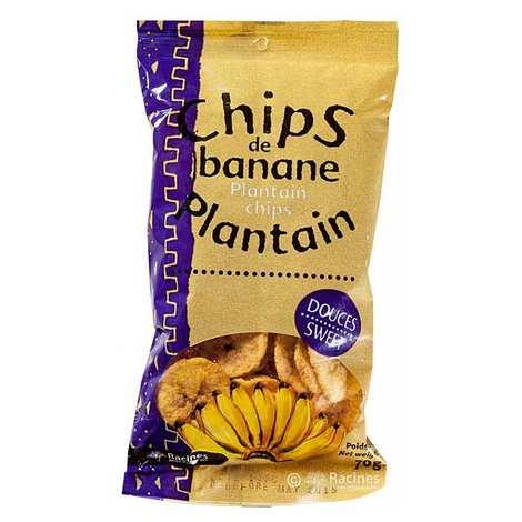 Racines - Chips de banane plantain sucrées