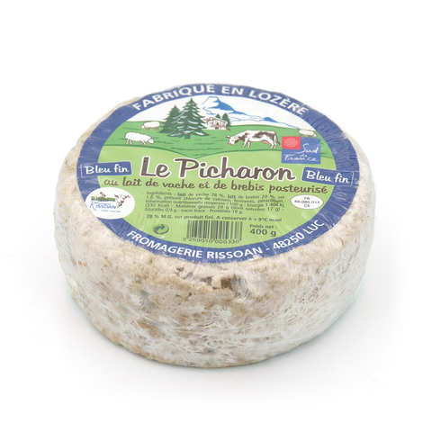 Fromagerie Rissoan - Le picharon - cheese made from pasteurized cow's and sheep's milk from Lozère