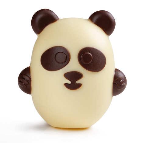 BienManger.com - Little Panda for Easter in White Chocolate