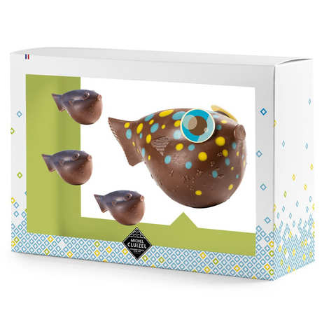 Michel Cluizel - Poissons bulles de Pâques en chocolat au lait