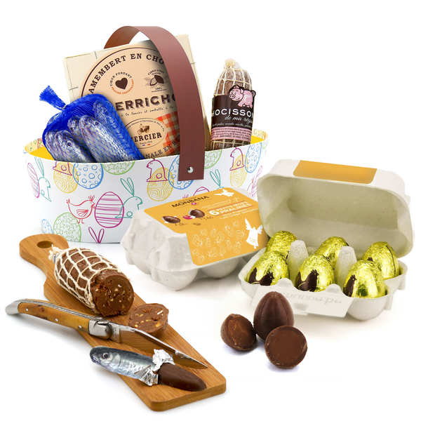 Grand panier de Pâques Casse-croûte de chocolat