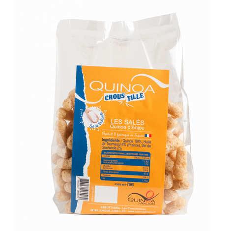 Quinoa d'Anjou - Quinoa Croustille - biscuits apéritifs Sel de Guérande