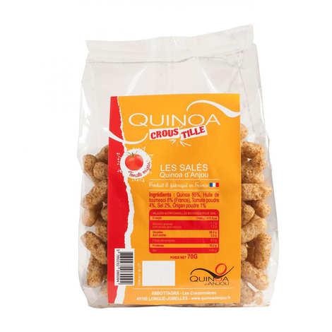 Quinoa d'Anjou - Quinoa Croustille - biscuits apéritifs Tomates-Origan