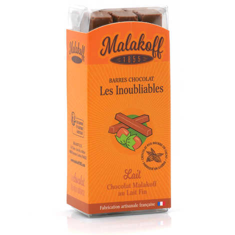 Malakoff & Cie - Barres de chocolat Malakoff 1855 au lait noisettes sans emballage individuel