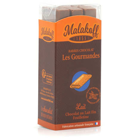 Malakoff & Cie - Chocolate bars feuilletine Malakoff 1855 without packaging