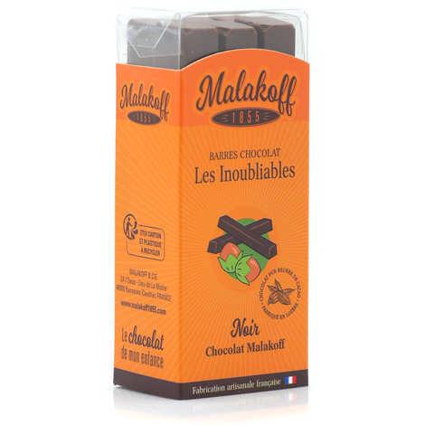 Malakoff & Cie - Barres de chocolat noir noisettes Malakoff 1855 sans emballage individuel