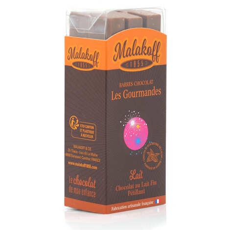 Malakoff & Cie - Barre chocolat au lait pétillant Malakoff 1855 sans emballage individuel