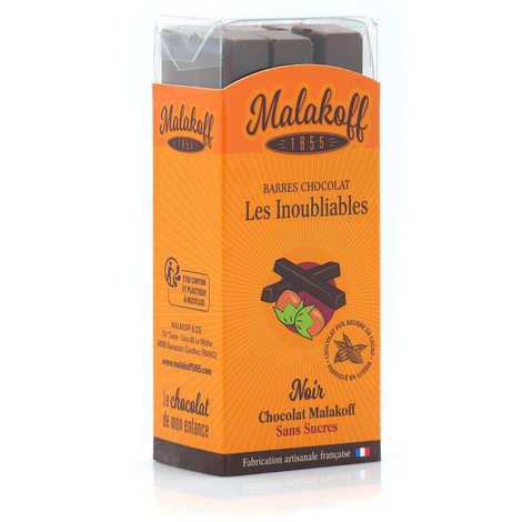 Malakoff & Cie - Malakoff no-sugar dark chocolate bars without individual packaging