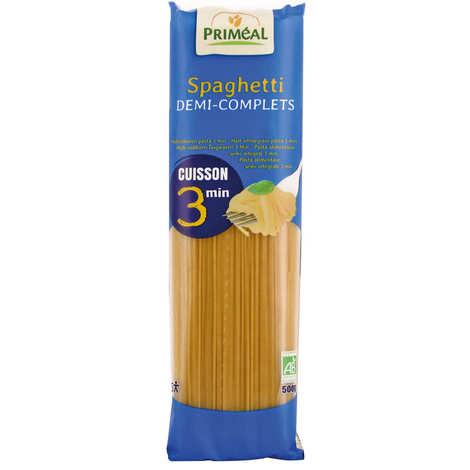 Priméal - Organic half-complete spaghetti fast cooking 3 minutes