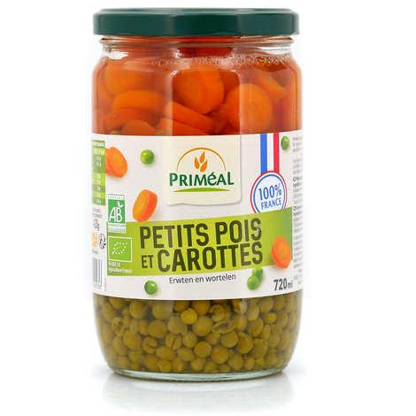 Priméal - Petits pois & carottes en rondelles bio de France