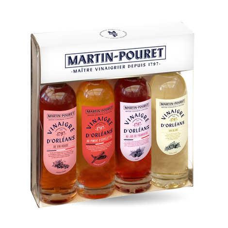 Martin Pouret - Coffret découverte 4 vinaigres d'Orléans Martin Pouret